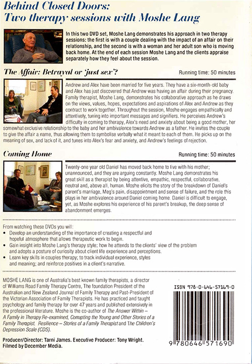 Behind Closed Doors - Back Cover