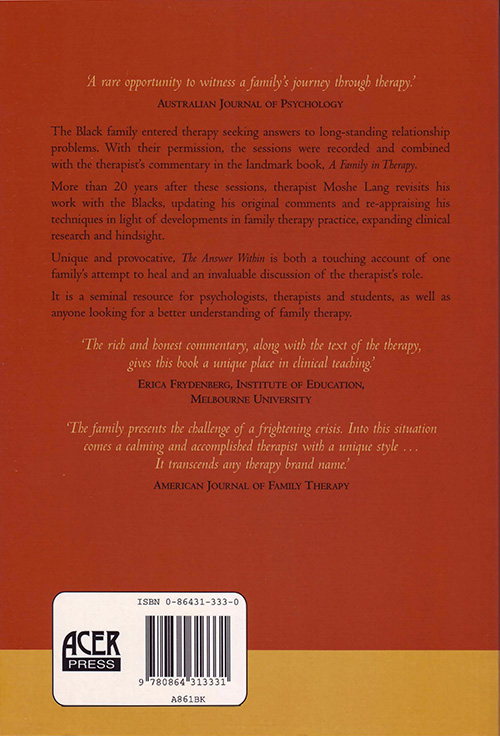 The Answer Within - Back Cover