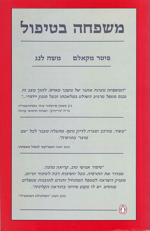 Mishpacha Betipol (A Family in Therapy, heb ed.) - front cover